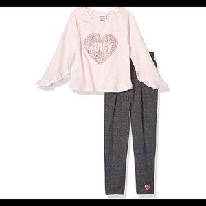 0608 Juicy Couture  5 Girls' 2 Pieces Pant Set